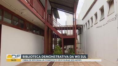 Biblioteca Demonstrativa de Brasília deve ser reformada em seis meses - Depois de uma série de adiamentos, governo promete reinaugurar a biblioteca, que fica na 506/507 sul, em fevereiro do ano que vem. A reforma, agora, é do Ministério da Cultura.