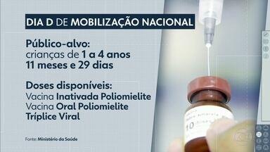 """Amanhã é dia """"D"""" de vacinação contra sarampo e poliomielite em todo o país - Alvo são crianças que têm 1 ano até 5 anos de idade incompletos."""