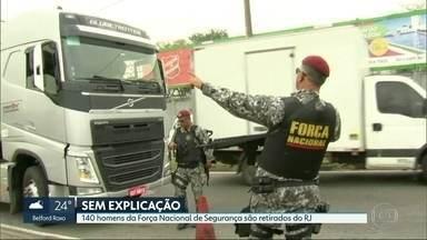 140 soldados da Força Nacional de Segurança são retirados do Estado - Comando da Segurança no Rio não foi avisado da retirada das tropas.