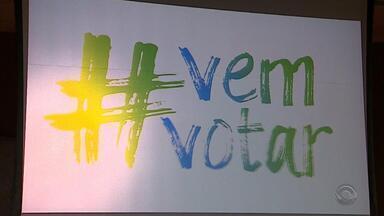 Campanha que estimula o voto é lançada em Porto Alegre - Material vai ser vinculado em rádio e TV.