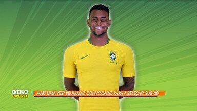 Pela terceira vez, Júnior Brumado é convocado para Seleção Brasileira Sub-20 - O jogador ficou conhecido por adotar como sobrenome o nome da cidade.
