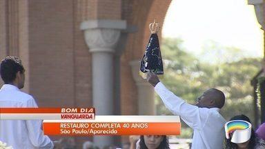 Igreja celebra 40 anos de restauro de imagem da Padroeira do Brasil com carreata na Dutra - Imagem da Padroeira do Brasil foi alvo de atentado em 1978 e foi restaurada após ter sido quebrada em mais de 200 pedaços. Cortejo de São Paulo a Aparecida levou Santa de volta à Basílica.