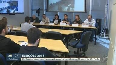 EPTV entrevistará candidatos ao governo de São Paulo a partir de 27 de agosto - Critérios foram discutidos nesta segunda-feira (20) com representantes de partidos políticos.