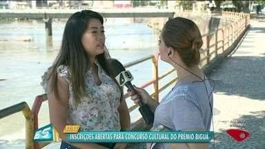 Inscrições abertas para concurso cultural do Prêmio Biguá - Concurso é promovido pela TV Gazeta Sul.