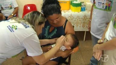 Santarém ultrapassa 50% da meta em Dia 'D' de vacinação contra sarampo e poliomiele - Até o sábado (16) 12.065 crianças receberam a dose das vacinas. Campanha encerra no dia 31 de agosto.