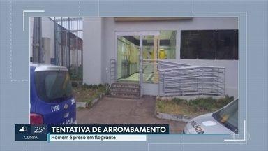 Homem é preso tentando arrombar Banco do Brasil de Macaparana - Pé-de-cabra foi apreendido.