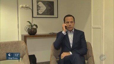 Confira a agenda de João Doria, candidato do PSDB ao governo do estado, nesta segunda - Ex-prefeito de São Paulo foi a um estúdio gravar propaganda eleitoral.