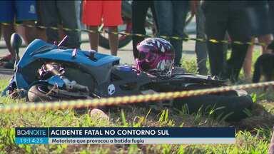 Uma pessoa morre em um acidente no Contorno Sul de Curitiba - O motorista que provocou a batida fugiu.