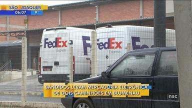 Transportadora é assaltada e funcionários são deixados trancados em baú de caminhão - Transportadora é assaltada e funcionários são deixados trancados em baú de caminhão