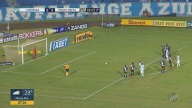 Ponte Preta perde do Londrina no Paraná - Confira o único gol da partida.