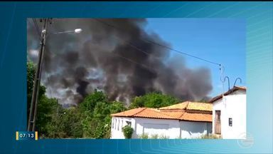 Incêndios de grande proporção no sul do Piauí preocupa autoridades - Incêndios de grande proporção no sul do Piauí preocupa autoridades