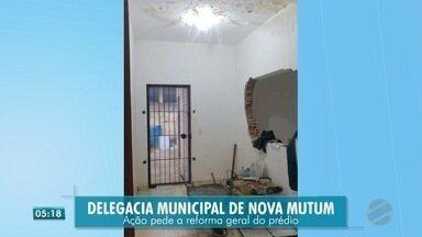 Falta de estrutura em prédio de delegacia - Falta de estrutura em prédio de delegacia