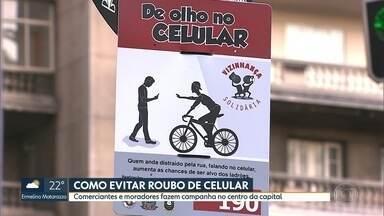 CELULARES: EM JUNHO 1717 FORAM ROUBADOS NAS RUAS DA CAPITAL PAULISTA. - Comerciantes e moradores do centro da cidade fazem campanha para evitar os roubos.