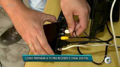 Saiba como preparar a televisão para receber o sinal digital - Sinal analógico da TV Grande Rio será desligado em dezembro.
