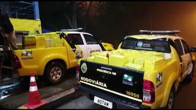 PRE apreende mais de duas toneladas de maconha na região de Campo Mourão - A droga estava escondida em um caminhão.