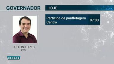 Confira a agenda dos candidatos ao governo do Ceará - Saiba mais em g1.com.br/ce