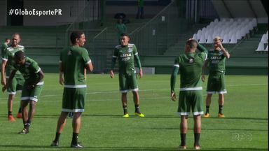 """Coritiba precisa vencer em casa para seguir na briga - Confronto direto com o Oeste será o terceiro jogo do """"vestibular"""" do técnico Tcheco"""