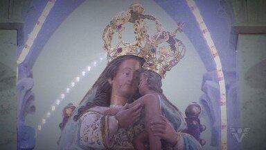Imagem de Nossa Senhora do Monte Serrat desce o morro neste domingo - Imagem ficará na Catedral de Santos até o dia da festa da padroeira.