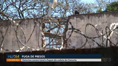 Presos fogem da delegacia de Cianorte - Os presos fizeram três tentativas e em uma delas eles conseguiram fugir