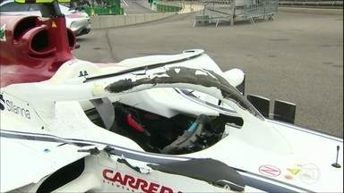 Halo evita ferimentos graves em acidente no GP da Bélgica de Fórmula 1 - Halo evita ferimentos graves em acidente no GP da Bélgica de Fórmula 1