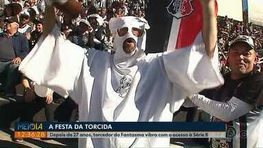 Torcida empurra Operário para a vitória e comemora acesso à Série B - Festa dos torcedores começou no estádio e terminou nas ruas de Ponta Grossa.