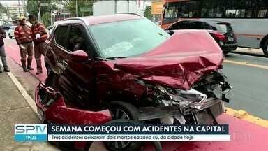 Semana começa com acidentes na capital - 3 acidentes deixaram 2 mortos na zona sul da capital nesta segunda-feira, 27