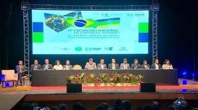 Amapá está sediando 14º encontro Nacional de controle interno, no AP - Evento reúne representantes de vários Estados que discutem a evolução do controle interno do país e o combate à corrupção