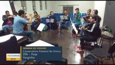 Semana do violino tem apresentação no conservatório em Varginha, MG - Semana do violino tem apresentação no conservatório em Varginha, MG