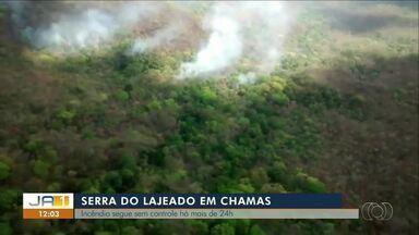 Foco de incêndio na serra de Lajeado segue sem controle há mais de 24h - Foco de incêndio na serra de Lajeado segue sem controle há mais de 24h