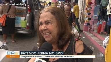 BMD vai nas ruas e ouve comerciantes e consumidores do bairro da Liberdade, em Salvador - O telejornal quer ouvir como estão as finanças durante o fim de mês.