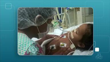 Criança é diagnosticada com meningite viral e internada em coma em hospital de Manaus - Fundação de Medicina Tropical informou que não há possibilidade de transmissão da doença.