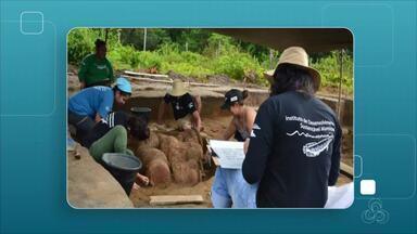 Arqueólogos encontram 'cemitério' com urnas indígenas que podem ter mais de 500 anos - Urnas estavam enterradas a 40 centímetros abaixo da superfície.