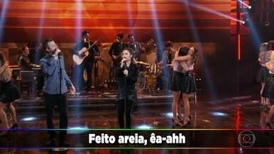 Sandy e Lucas Lima cantam 'Areia' - Marido se junta para compor dueto com a cantora