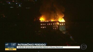 Incêndio de grandes proporções destrói Museu Nacional, na Quinta da Boa Vista - A Instituição foi destruída em um incêndio que começou neste domingo (2).