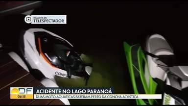 Acidente no Lago Paranoá - Duas motos aquáticas bateram enquanto pilotos passeavam pelo Lago.