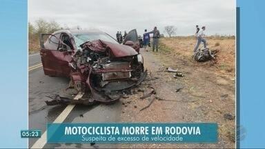 Imprudência pode ter sido causa de acidente que matou motociclista - Imprudência pode ter sido causa de acidente que matou motociclista