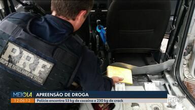 Polícia apreende cocaína e crack - Foi uma das maiores apreensões do ano.