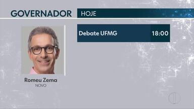 Confira os compromissos dos candidatos ao governo de Minas nesta segunda-feira - Romeu Zema (Novo) tem debate na UFMG.