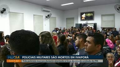 PM é suspeito de matar dois colegas policiais, em Ivaiporã - Ele também morreu. Polícia investiga os motivos e o que aconteceu.