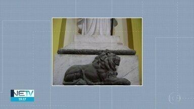 Leão de bronze da Basílica da Penha é roubado no Recife - Polícia Civil está investigando o roubo.