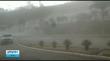 Chuva e ventos fortes causam estragos em cidades do Sul de Minas - Chuva e ventos fortes causam estragos em cidades do Sul de Minas