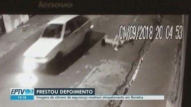 Motorista que atropelou quatro meninas em Barretos, SP, presta depoimento - A investigação conta também com imagens de câmeras de segurança.