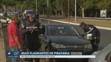 4.550 motoristas foram multados por transporte pirata em 2018 - Número é 22% maior do que o registrado no mesmo período do ano passado. Policiais militares e fiscais da ANTT apontam punição branda como estímulo para clandestinidade.