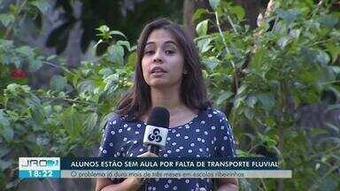 Alunos sofrem com a falta de transporte fluvial em Porto Velho - É a segunda paralisação em menos de seis meses.