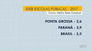 Rede estadual de ensino tem nota abaixo da meta no Ideb em Ponta Grossa - Já a rede municipal fechou com nota 6,3 pontos, que era o índice projetado.
