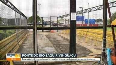 Ponte próxima ao Aeroporto de Guarulhos que liga rodovias seguirá fechada - Já faz anos que os moradores pedem a reabertura de uma ponte que era usada como atalho. Para quem mora na região, era uma mão na roda para chegar até a Rodovia Hélio Smidt e a Dutra.
