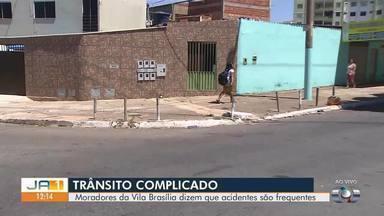 Moradores reclamam de problemas na sinalização de cruzamento em Aparecida de Goiânia - Dezenas de acidentes já foram registrados na Vila Brasília este ano.