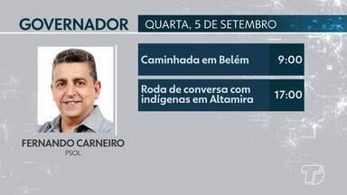 Confira a agenda de candidatos ao Governo do Pará para esta quarta-feira - Candidatos cumprem agenda de campanha na capital e no interior do estado.