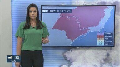 Veja a previsão do tempo para esta sexta-feira (7) na região de Ribeirão Preto - O feriadão será de calor e não há previsão de chuva.