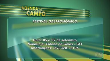 Confira os eventos do final de semana na Agenda do Campo - Tem fim neste domingo o Festival Gastronômico da Cidade de Goiás.